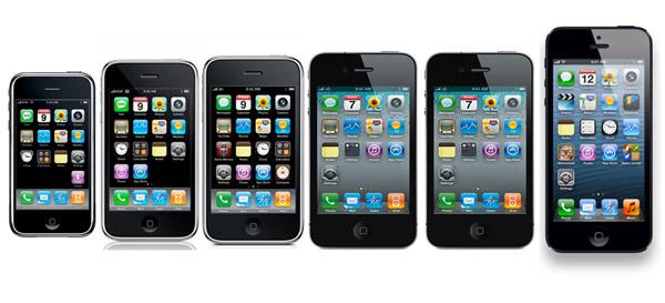 iPhone door de jaren heen