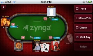 zynga poker iphone